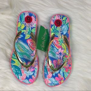 Lilly Pulitzer Flip Flop Size 6